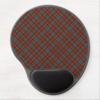 Dark Red and Steel Blue Fraser of Lovat Tartan Gel Mouse Mat