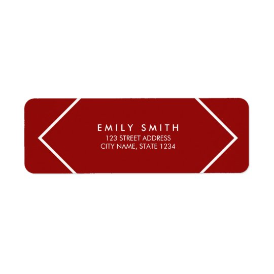 Dark Red and White Minimalist Geometric Address