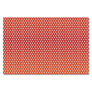 Dark Red and White Polka Dots Tissue Paper