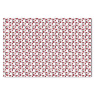 "Dark Red and White Soccer Ball 10"" X 15"" Tissue Paper"