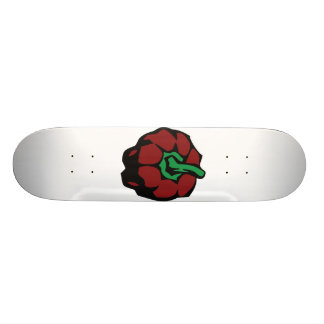 Dark Red bell pepper top view graphic Skate Decks