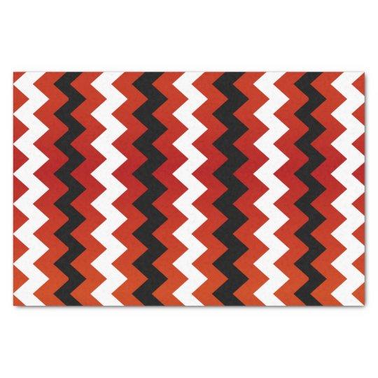 Dark Red, Black and White Chevron Tissue Paper