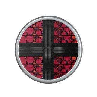 Dark Red Black Bling Speaker