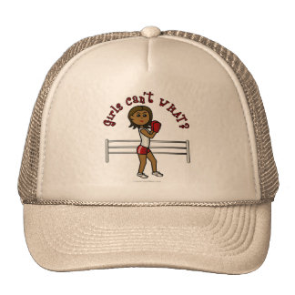 Dark Red Boxer Trucker Hat
