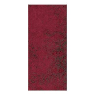 Dark Red Burgundy Grunge Pattern Rack Card