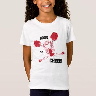 Dark Red Cheerleader - Born to Cheer T-Shirt