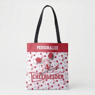 Dark Red Cheerleader Girl - All Over Print Tote Bag