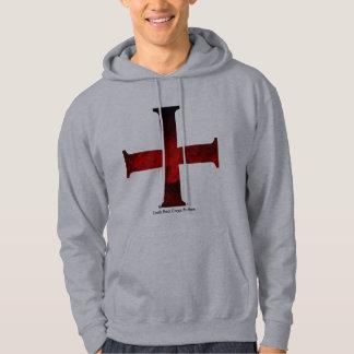Dark Red Cross Pattee Hoodie