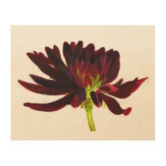 Dark red dahlia wall art