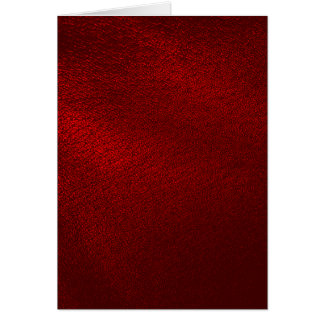 Dark Red (Faux) Leather Look Card
