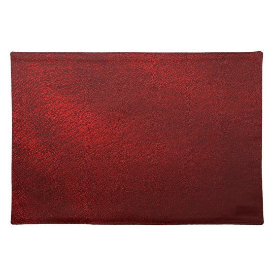 Dark Red (Faux) Leather Look Placemats