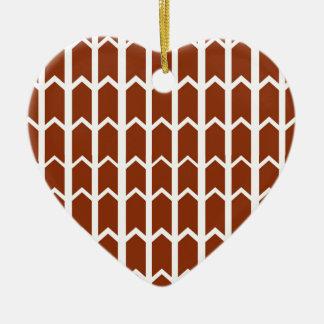 Dark Red Fence Panel Ceramic Heart Decoration