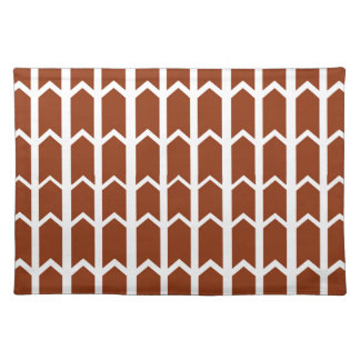Dark Red Fence Panel Placemats