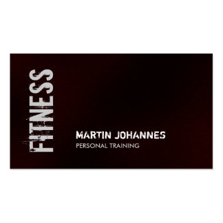 Dark Red Fitness Personal Trainer Business Card