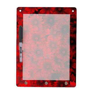 Dark red floral pattern Dry-Erase boards