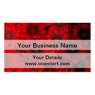 Dark red floral pattern pack of standard business cards