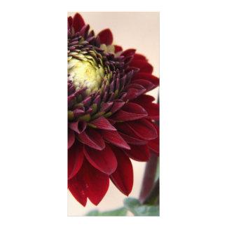 Dark Red Flower Custom Rack Cards
