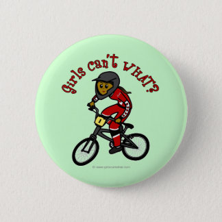 Dark Red Girls BMX 6 Cm Round Badge