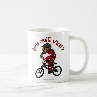 Dark Red Girls BMX Basic White Mug