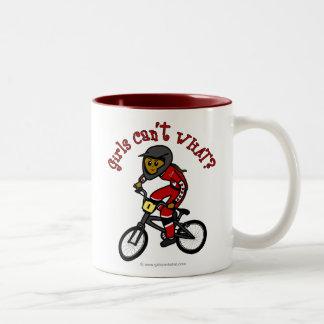 Dark Red Girls BMX Coffee Mugs
