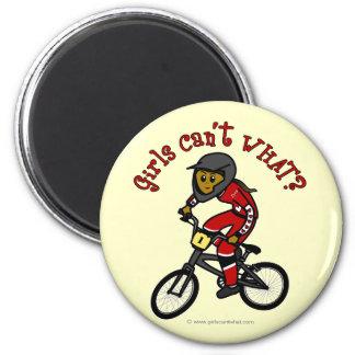 Dark Red Girls BMX Magnet