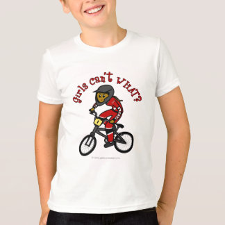 Dark Red Girls BMX T-Shirt