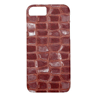 Dark red glass bricks abstract geometric pattern iPhone 8/7 case