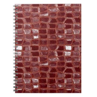 Dark red glass bricks abstract geometric pattern notebook