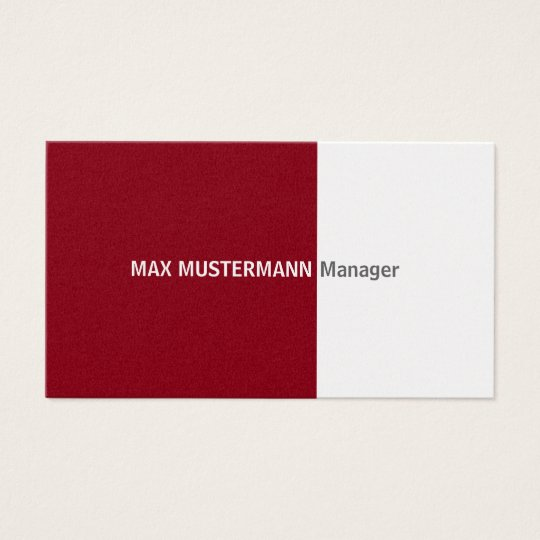 Dark red gold visiting card