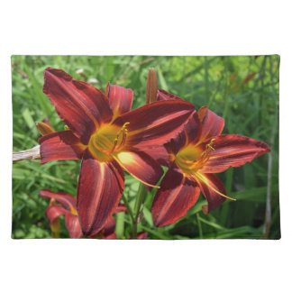 Dark red lilies placemat