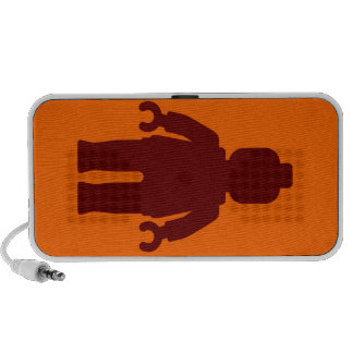 Dark Red Minifig by Customize My Minifig Portable Speakers