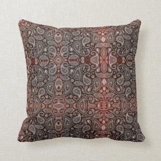 Dark Red Paisley Cushion