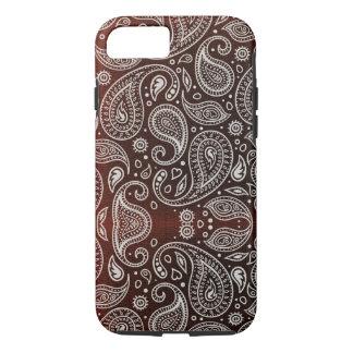 Dark Red Paisley iPhone 8/7 Case