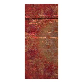 DArk Red Pattern Wood Background Rack Card Design