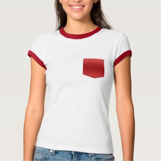 dark red pocket pattern pocket tee design T-shirt