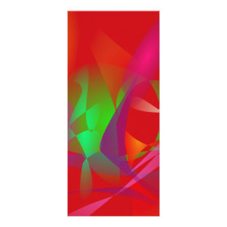 Dark Red Custom Rack Card