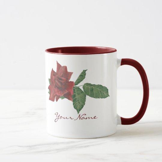 Dark Red Rose Mug