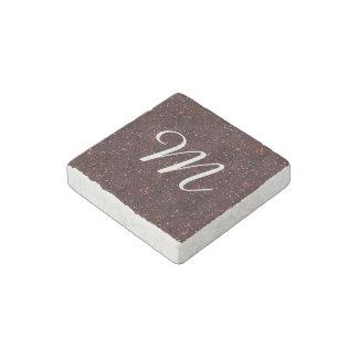 Dark Red Ruby Glitter Stone Magnet