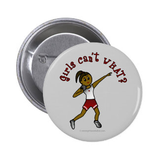 Dark Red Shot Put 6 Cm Round Badge