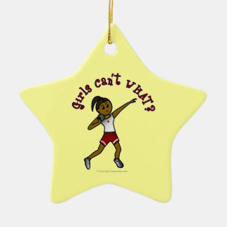 Dark Red Shot Put Ceramic Star Decoration