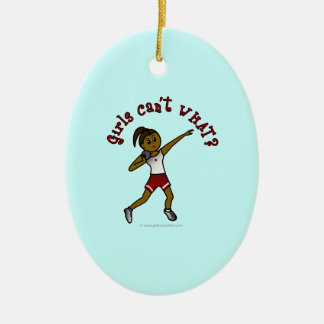 Dark Red Shot Put Christmas Ornaments