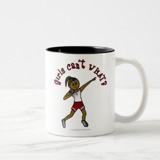 Dark Red Shot Put Two-Tone Coffee Mug