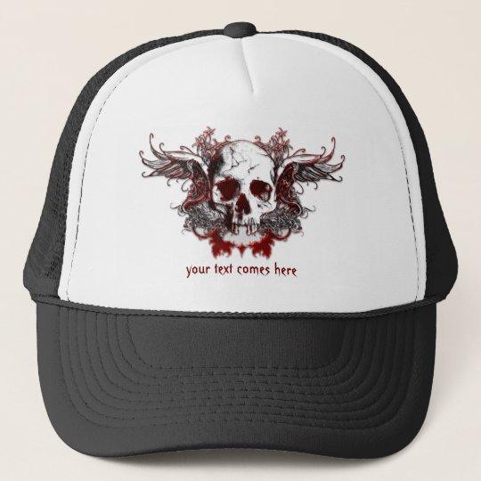 dark red skull Hat