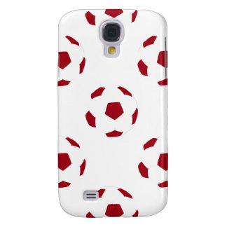 Dark Red Soccer Ball Pattern Galaxy S4 Case