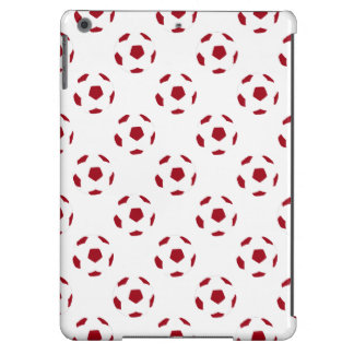 Dark Red Soccer Ball Pattern Cover For iPad Air