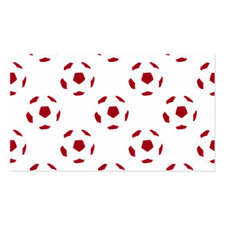 Dark Red Soccer Ball Pattern Pack Of Standard Business Cards