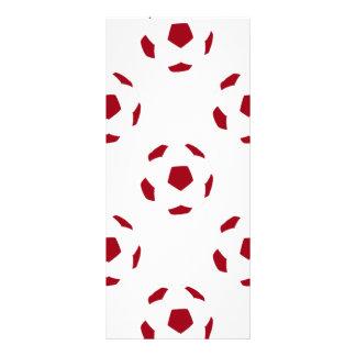 Dark Red Soccer Ball Pattern Rack Cards