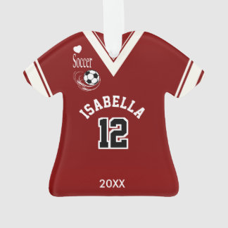 Dark Red Soccer Shirt Ornament