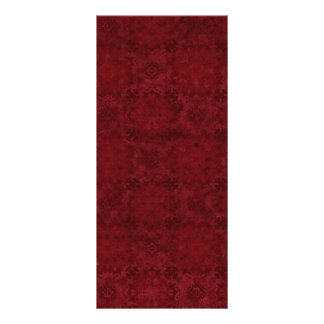 Dark Red Square Pattern Full Color Rack Card