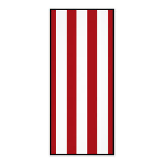 Dark Red Stripes (Add 2nd Color) Personalised Rack Card